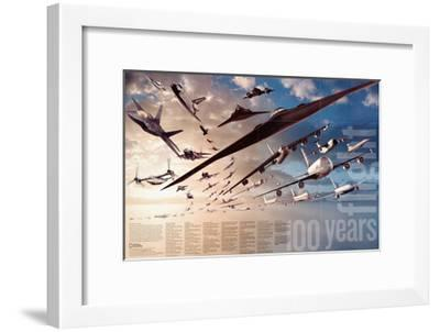 2003 100 Years of Flight Theme-National Geographic Maps-Framed Art Print