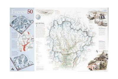 2003 Everest 50-National Geographic Maps-Art Print