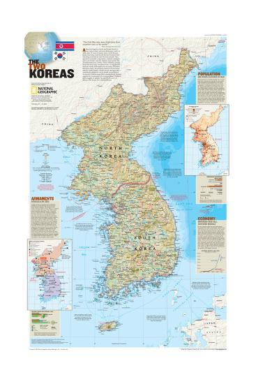 2003 The Two Koreas-National Geographic Maps-Art Print