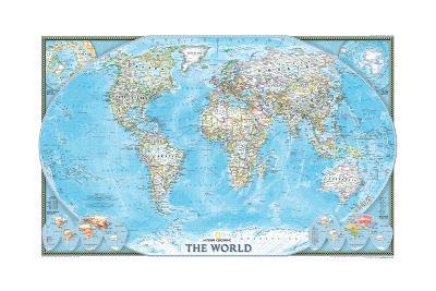 2004 World-National Geographic Maps-Art Print