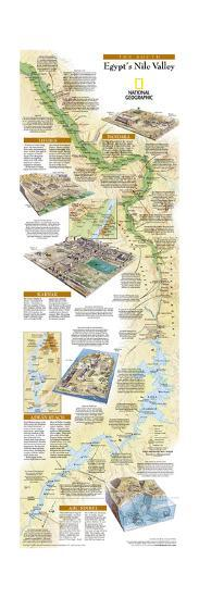 2005 Egypts Nile Valley South Map-National Geographic Maps-Art Print