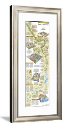 2005 Egypts Nile Valley South Map-National Geographic Maps-Framed Art Print