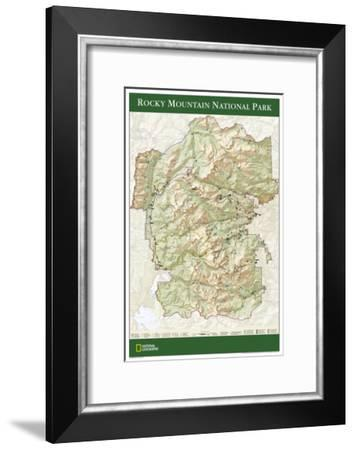 2005 Rocky Mountain National Park Map-National Geographic Maps-Framed Art Print