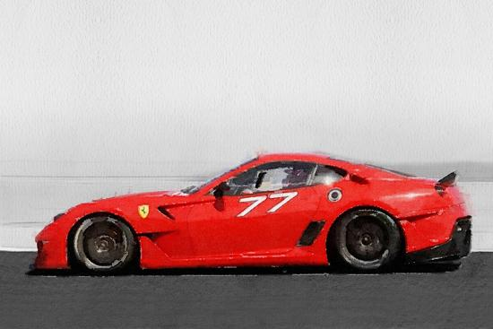 2006 Ferrari 599 Gtb Fiorano Watercolor Art Print By Naxart Art