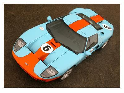 2006 Ford GT Heritage Livery--Giclee Print