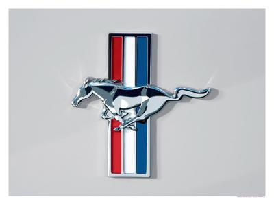 2006 Ford Mustang Horse and Bars Emblem--Giclee Print