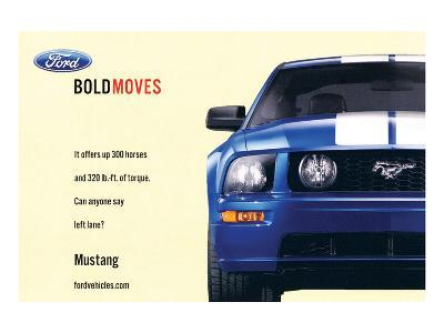 2007 Mustang-Offers 300 Horses--Art Print