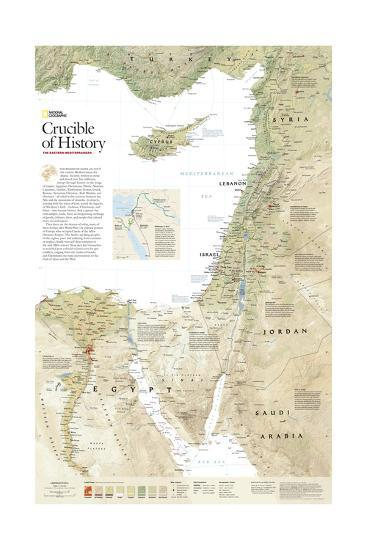 2008 Crucible of History, the Eastern Mediterranean-National Geographic Maps-Art Print
