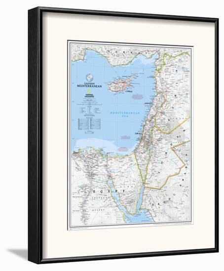 2008 Eastern Mediterranean Map-National Geographic Maps-Framed Art Print