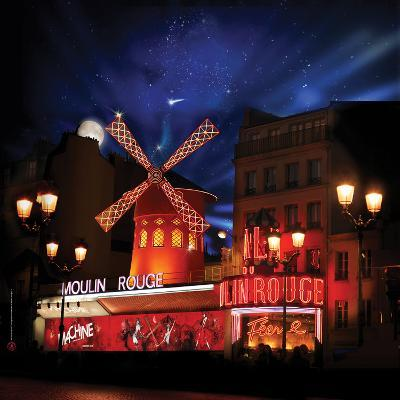 2010 Moulin Rouge full moon--Photographic Print