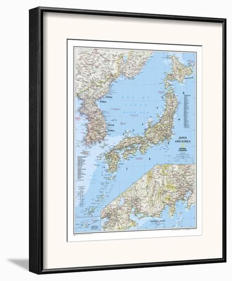 2011 Japan and Korea Map-National Geographic Maps-Framed Art Print