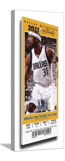 2011 NBA Finals Mega Ticket - Game 3, Terry - Dallas Mavericks--Stretched Canvas Print