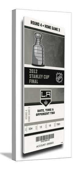 2012 NHL Stanley Cup Final Mega Ticket - Los Angeles Kings--Stretched Canvas Print