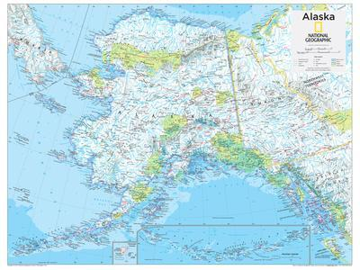 2014 Alaska - National Geographic Atlas of the World, 10th Edition-National Geographic Maps-Poster
