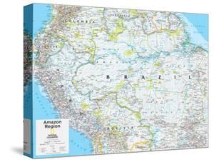 Beautiful national geographic maps canvas artwork for sale limited 2014 amazon region national geographic atlas of the world 10th edition gumiabroncs Gallery