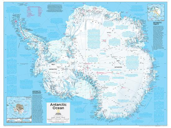 2014 Antarctica Political National Geographic Atlas Of The World