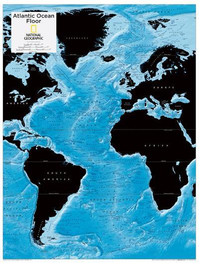 2014 Atlantic Ocean Floor - National Geographic Atlas of the World, 10th Edition-National Geographic Maps-Poster