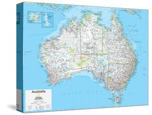 Maps of australia canvas artwork for sale posters and prints at 2014 australia political national geographic atlas of the world 10th edition stretched canvas print gumiabroncs Images