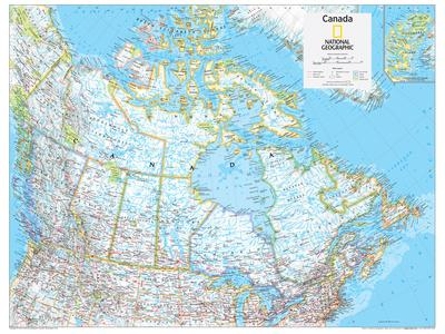 2014 Canada Political National Geographic Atlas Of The World 10th Edition Art Print By Art Com