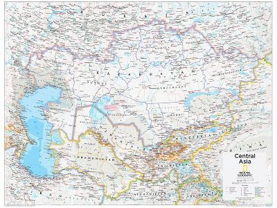 2014 Central Asia - National Geographic Atlas of the World, 10th Edition-National Geographic Maps-Poster