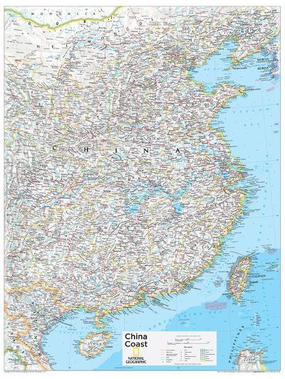 National Geographic Map Of China.2014 China Coast National Geographic Atlas Of The World 10th