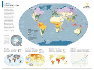 2014 Climate - National Geographic Atlas of the World, 10th Edition-National Geographic Maps-Poster