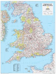 2014 England and Wales - National Geographic Atlas of the World, 10th Edition