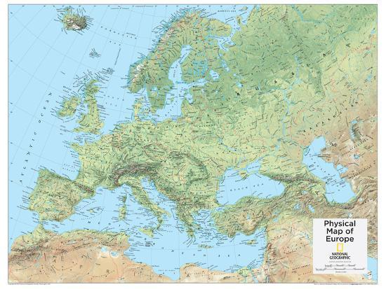 2014 Europe Physical - National Geographic Atlas of the World, 10th ...