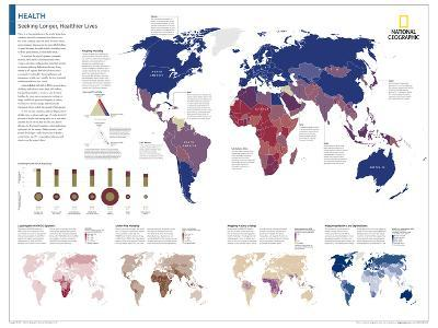 2014 Health - National Geographic Atlas of the World, 10th Edition--Art Print