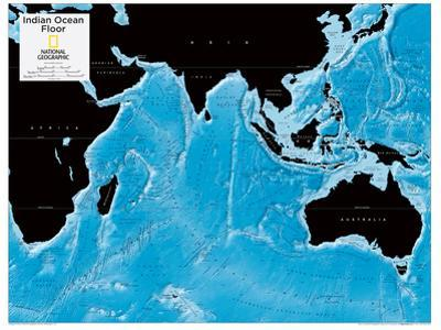 2014 Indian Ocean Floor - National Geographic Atlas of the World, 10th Edition