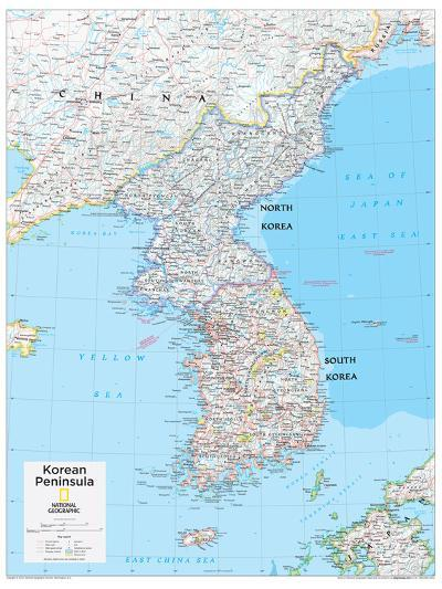 2014 Korean Peninsula - National Geographic Atlas of the World, 10th Edition-National Geographic Maps-Poster