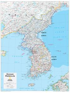 2014 Korean Peninsula - National Geographic Atlas of the World, 10th Edition