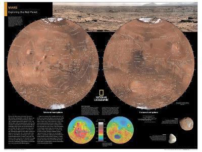 2014 Mars - National Geographic Atlas of the World, 10th Edition-National Geographic Maps-Poster