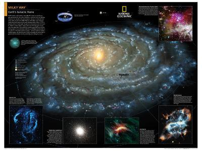 2014 Milky Way - National Geographic Atlas of the World, 10th Edition-National Geographic Maps-Poster