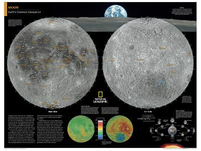 2014 Moon - National Geographic Atlas of the World, 10th Edition-National Geographic Maps-Poster