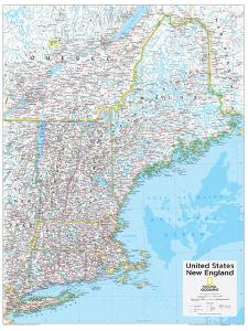 2014 New England US - National Geographic Atlas of the World, 10th Edition