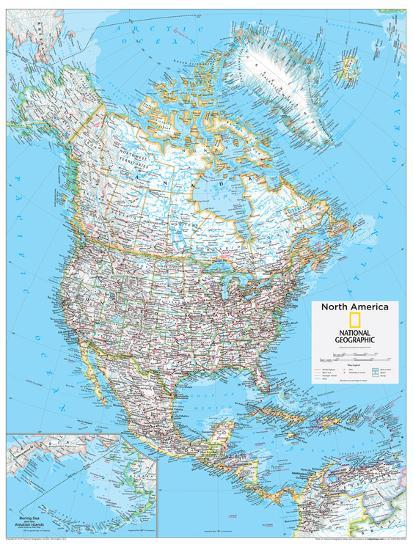 2014 North America Political - National Geographic Atlas of the World ...