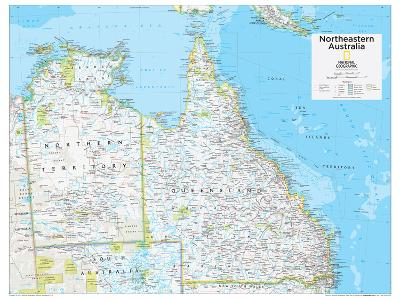 2014 Northeastern Australia - National Geographic Atlas of the World, 10th Edition-National Geographic Maps-Poster