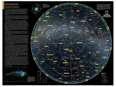 2014 Northern Sky - National Geographic Atlas of the World, 10th Edition-National Geographic Maps-Poster