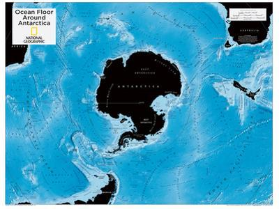 2014 Ocean Floor Antarctica - National Geographic Atlas of the World, 10th Edition