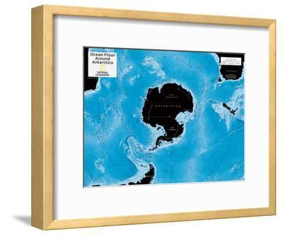 2014 Ocean Floor Antarctica - National Geographic Atlas of the World, 10th Edition