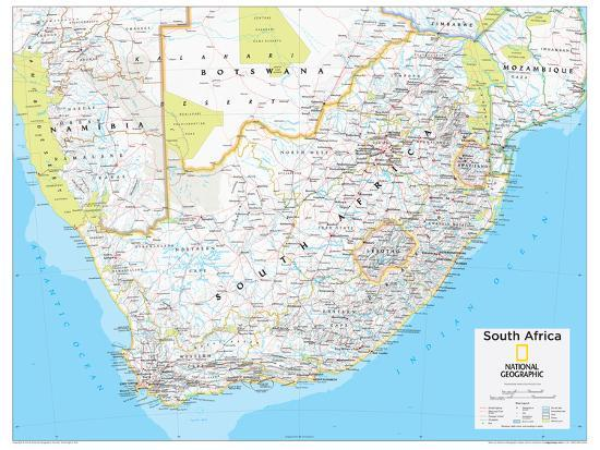 2014 South Africa - National Geographic Atlas of the World, 10th Edition  Poster by National Geographic Maps | Art com