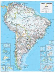 2014 South America Political - National Geographic Atlas of the World, 10th Edition