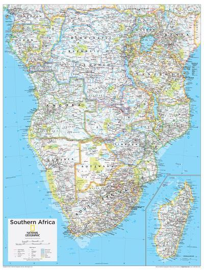 2014 Southern Africa - National Geographic Atlas of the World, 10th Edition--Art Print