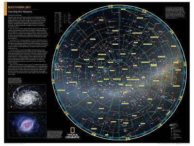 2014 Southern Sky - National Geographic Atlas of the World, 10th Edition-National Geographic Maps-Poster