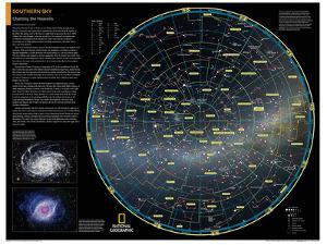2014 Southern Sky - National Geographic Atlas of the World, 10th Edition