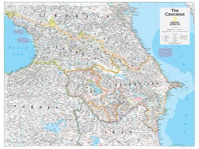 2014 The Caucasus - National Geographic Atlas of the World, 10th Edition-National Geographic Maps-Poster
