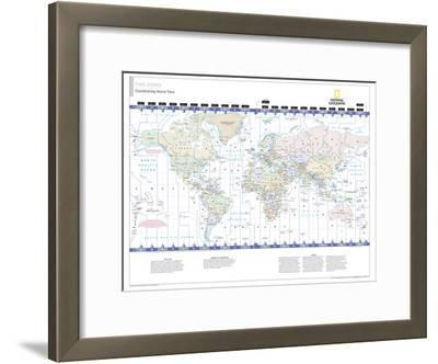 2014 Time Zones - National Geographic Atlas of the World, 10th Edition