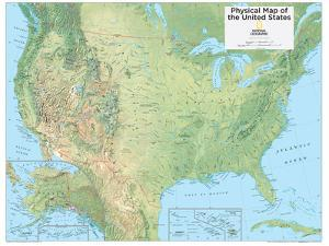 2014 United States Physical - National Geographic Atlas of the World, 10th Edition