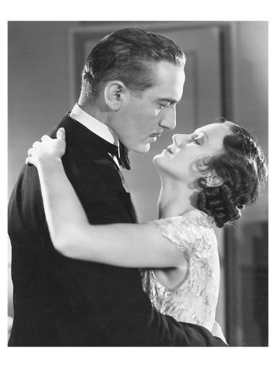 20ies Film Couple Embracing--Art Print